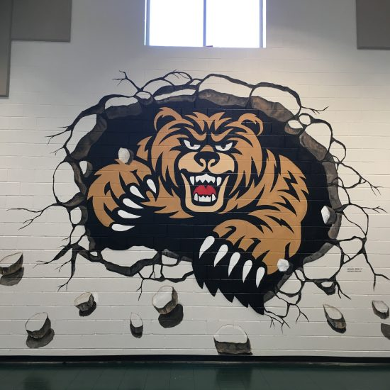 Dyer Elementary School Mascot at Gym